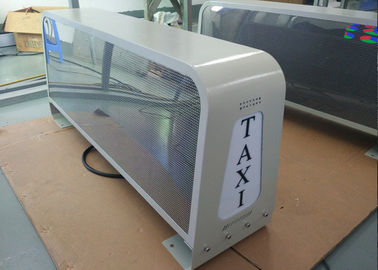 Outdoor Bright Taxi Top LED Display Roof Signs For Cars With Double Side Screen
