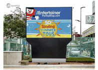High Resolution Outdoor LED Displays 10mm RGB Real Pixels For Landmarks / Transportation