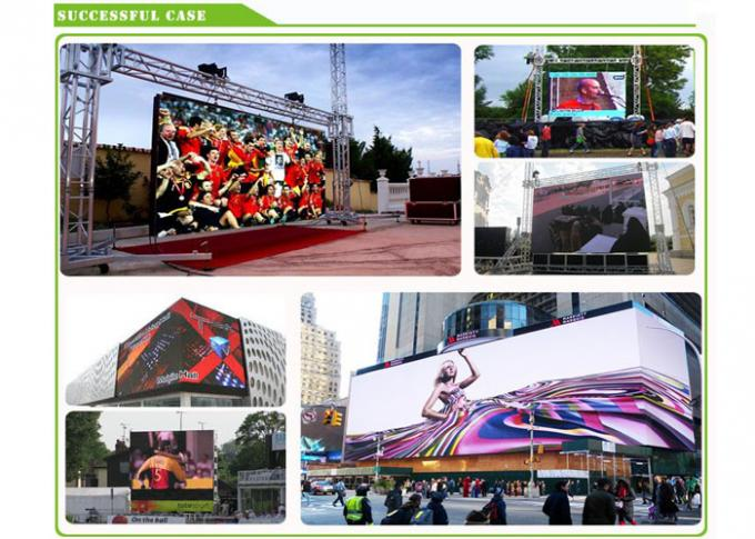 LED de intensidad alta Digital Billboards10mm a todo color con la señal de RGBHV
