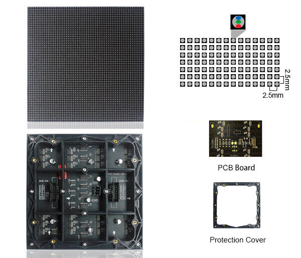 Small Pixel P2.5 HD led display, high contrast Video function Movable Stage Rental Indoor Led Display For Conference